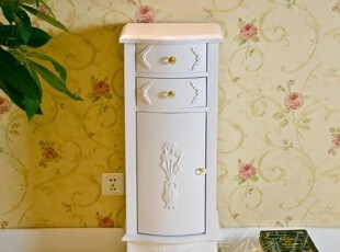 韩式抽屉柜子储物柜带门田园斗柜欧式实木储藏柜置物柜宜家收纳柜,收纳柜,