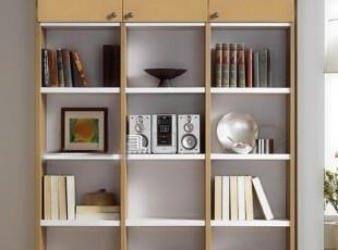 Luckwood定制家具 3列3门简约现代组合书柜 敞开式定制书架SG-02,收纳柜,