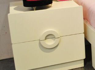 【家具精品馆】儿童床头柜 双抽灯柜 韩式公主收纳柜 白色抽柜M88,收纳柜,
