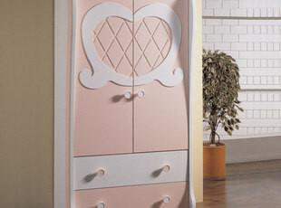 地中海儿童Y076 柜子衣柜衣橱 拉门 移动 大衣柜环保烤漆粉色定做,收纳柜,