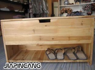 比邻乡村 地中海风格实木换鞋凳 原木色美克美家实木定制家具鞋凳,收纳柜,