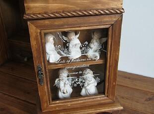 实木玻璃小柜子质量超好可爱装饰柜,收纳柜,