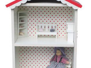 娃娃小房子/迷你小家具 房形收纳柜子/装扮童年的梦/田园乡村三色,收纳柜,