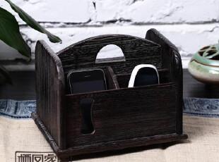 日式烧桐家实具,遥控器收纳盒,收纳柜,整理箱 抽屉柜 收纳盒,收纳柜,
