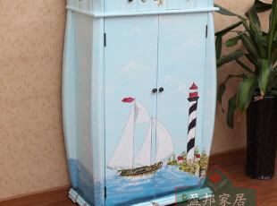 《帆船与海洋》热卖地中海风格鞋柜可调节层板SD-1098 盈邦家具,收纳柜,