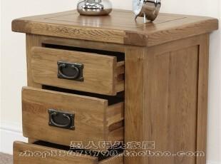 【木e族】rx欧洲热销实木家具白橡木欧式全实木床头柜抽屉特价,收纳柜,