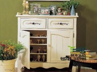 【林木工坊】比邻乡村 美式乡村田园 地中海 实木家具定制 鞋柜,收纳柜,