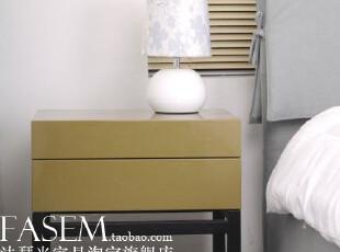 北京 法瑟米家具 高亮烤漆 床头柜 阻尼滑道 果果,收纳柜,