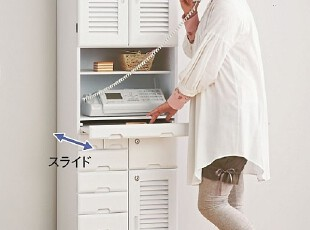 出口日本原单实木家具带锁传真电器柜、文件柜、物品收纳柜,收纳柜,