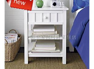 美式家具 欧式宜家 现代简约 床头柜(白色)SHT701,收纳柜,