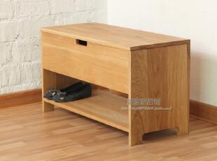 外贸出口原单家具/100%橡木柞木实木/多功能/鞋柜/换鞋凳/储物柜,收纳柜,