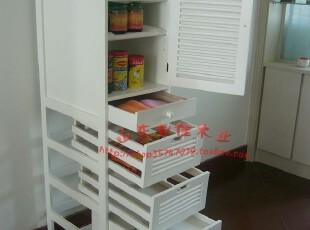 实木厨房多用保鲜透气菜柜(白色)0027,收纳柜,