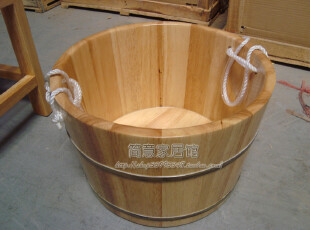 【简意】外贸出口欧洲原单/实木家具/橡胶木/沐足桶/洗脚桶,收纳柜,
