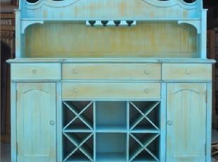 特价可定做 地中海餐边柜 美式乡村餐柜 欧式实木家具,收纳柜,