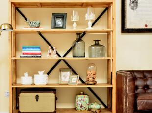 奇居良品 欧式美克美家风乡村实木工业风家具汉尼顿展示柜书柜 木,收纳柜,