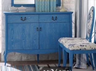 地中海风格 玄关柜 餐边柜 榆木鞋柜,收纳柜,