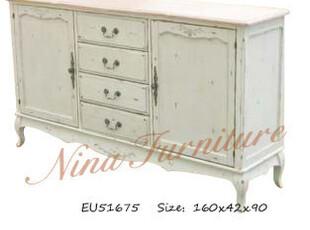 Nina 出口法国家具 黑白做旧系列 乡村电视柜 餐边桌 预定,收纳柜,