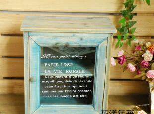 原单zakka日式杂货 木质收纳盒 复古收纳柜 玻璃门收纳柜,收纳柜,