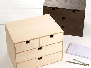 美居新思 日式简约四斗柜 木制收纳储藏柜 自由组合柜,收纳柜,
