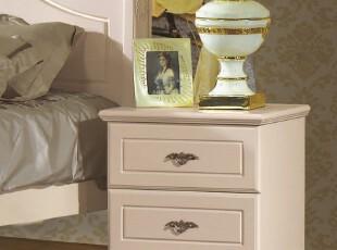 床头柜简约 田园床头柜 储物柜 实木床头柜 特价 801,收纳柜,
