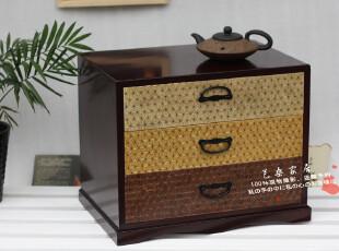 日本原单*精品实木*紫檀收纳储物柜 床头柜 文件柜 斗柜 储物箱,收纳柜,