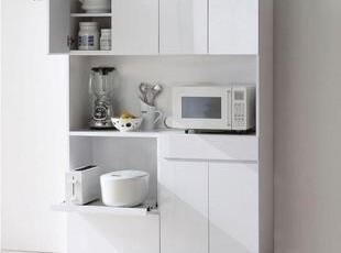 新款田园 餐柜 储物柜 橱柜 多功能 餐边柜 厨房餐厅 微波炉柜,收纳柜,