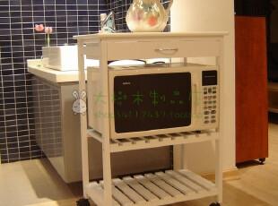 促销冲冠加宽厨房餐车微波炉架置物架木质移动餐边柜田园家具,收纳柜,