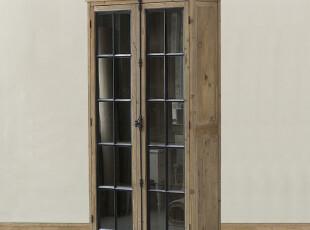 帕古达实木家具/美克美家美式法式/l拉夫迪昂双门立柜书柜橱柜,收纳柜,