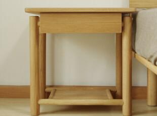 S05床头柜|橡木边桌|美国白橡|木蜡油|实木|简约|木智工坊家具,收纳柜,