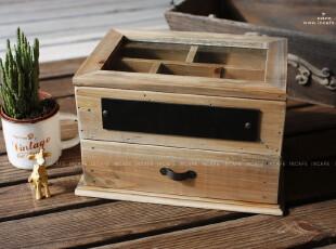 INCAFE |日本正单收纳木抽屉 日本杂货 正单 复古 木盒 ZAKKA,收纳柜,