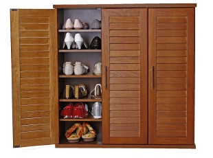 『青岛外贸出口日本家具』 百叶门鞋柜 90厘米宽,收纳柜,
