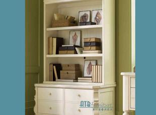 【天猫原创】奥汀堡 棕榈岛 书柜套装 三色A2508b白色秒杀,收纳柜,