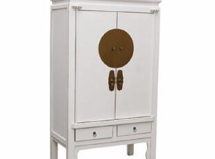 【东游记 出口家具】中式复古大铜活衣柜.太阳柜,收纳柜,