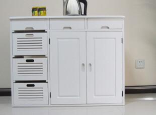 宏泰实木出口家具 田园式蔬菜储物柜 欧式餐边柜 碗筷柜 白色特价,收纳柜,