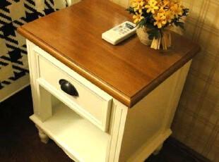 美式欧式韩式地中海田园白色实木小床头柜储物柜收纳柜子宜家家具,收纳柜,