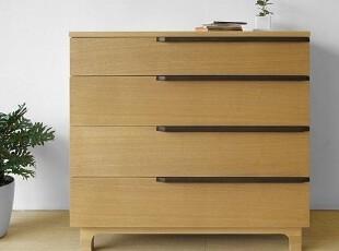 木聪良品家具日式实木北欧现代风格白橡木收纳柜五斗柜SD-302Q,收纳柜,