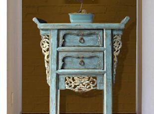 [摆设出品]新中式实木仿古家具/风水玄关柜/龙蟠凤逸7折预售特价,收纳柜,