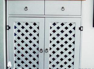 地中海家具 实木手工西西里鞋柜,收纳柜,