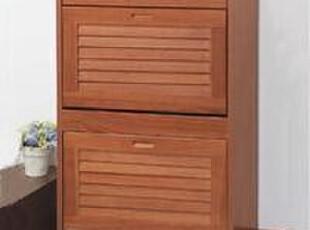 『青岛外贸出口日本家具』翻转百叶门鞋柜 60厘米宽两段,收纳柜,