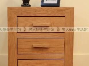 【木e族】纯实木家具白橡木欧式简约全实木床头柜灯桌SDO-12,收纳柜,