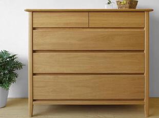 木聪良品家具日式实木北欧现代风格白橡木收纳柜五斗柜SD-502,收纳柜,