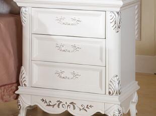 和购QUEEN卧室家具 欧式床头柜 实木收纳柜储物柜 床头柜 HGBG901,收纳柜,