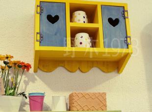 实拍!地中海实木家具 托斯卡那双门小吊柜 壁柜【预定】00,收纳柜,
