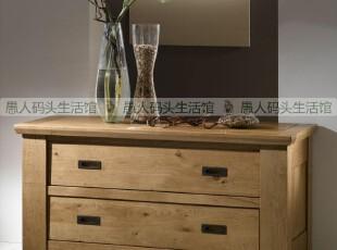 【木e族】欧洲同步纯实木家具白橡木二斗橱2斗柜实木五斗柜电视柜,收纳柜,