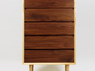 纯实木 原木 斗柜 抽屉柜 储藏柜 凡系列素元木作设计师品牌,收纳柜,