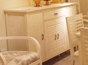 地中海风格餐厅 美式 韩式田园家具 仿古实木定制 餐边储物柜,收纳柜,