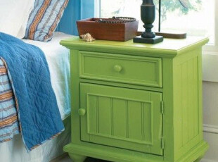 地中海风格 全实木 床头柜(预定),收纳柜,