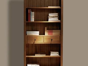 品睐居宜家简约欧式五层书柜 实木家具套装 不带门2门书柜书橱,收纳柜,