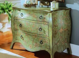 【天猫原创】奥汀堡欧式家具 拉菲尔手绘家具斗柜 AT4227 X,收纳柜,