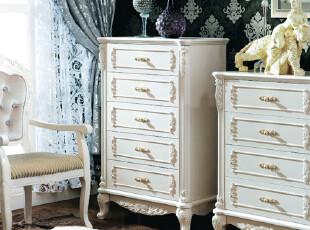 贝尔帝丝 法式家具 四斗柜/五斗柜 储物柜 实木 欧式柜 6822-5,收纳柜,